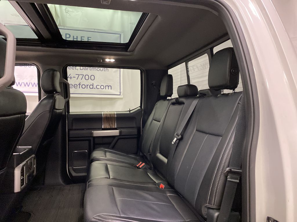 White[Oxford White] 2018 Ford F-150 Left Side Rear Seat  Photo in Dartmouth NS