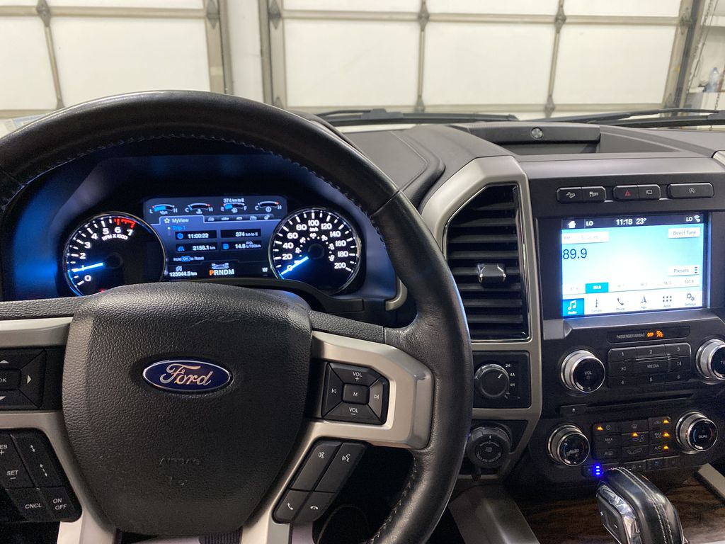 White[Oxford White] 2018 Ford F-150 Steering Wheel and Dash Photo in Dartmouth NS