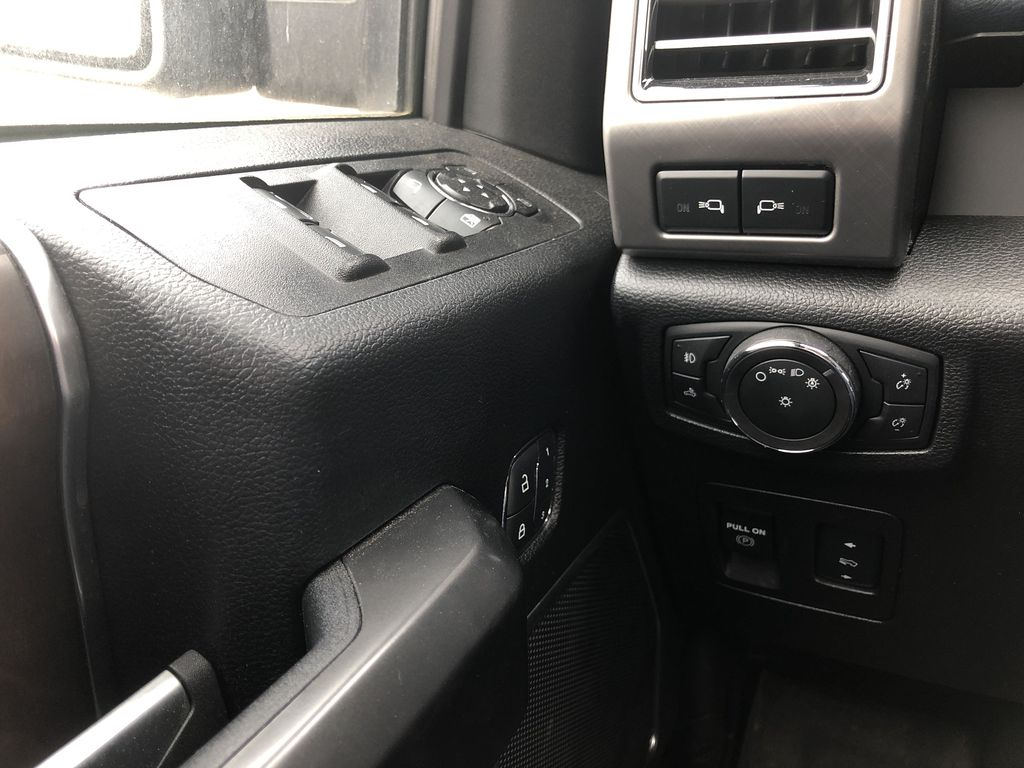 Blue[Blue Jeans Metallic] 2018 Ford F-150  Driver's Side Door Controls Photo in Edmonton AB
