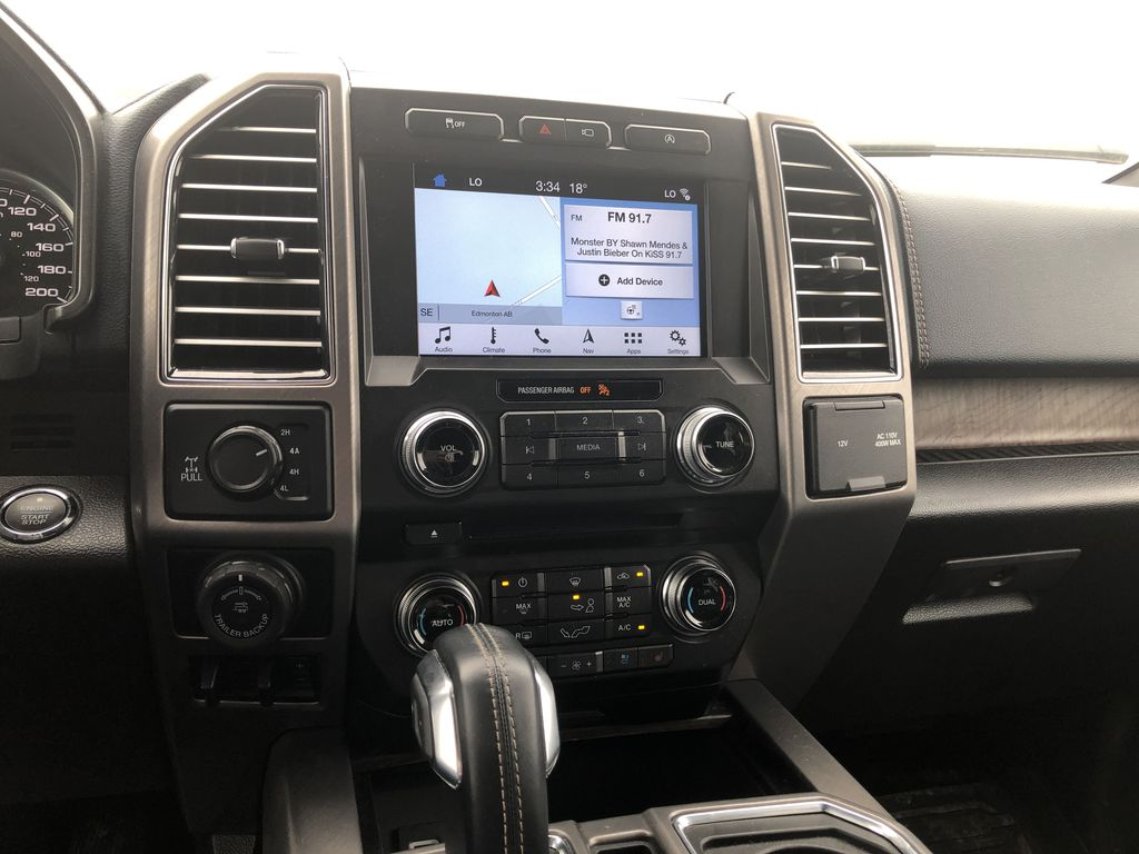 Blue[Blue Jeans Metallic] 2018 Ford F-150 Central Dash Options Photo in Edmonton AB