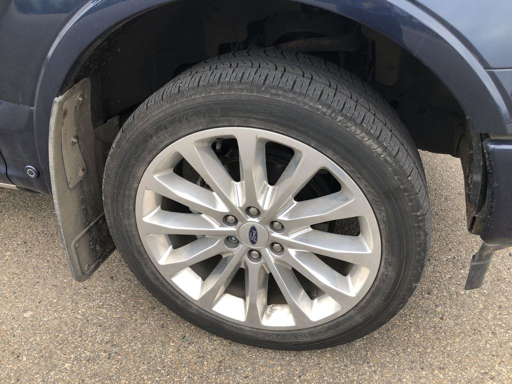 Blue[Blue Jeans Metallic] 2018 Ford F-150 Left Front Rim and Tire Photo in Edmonton AB