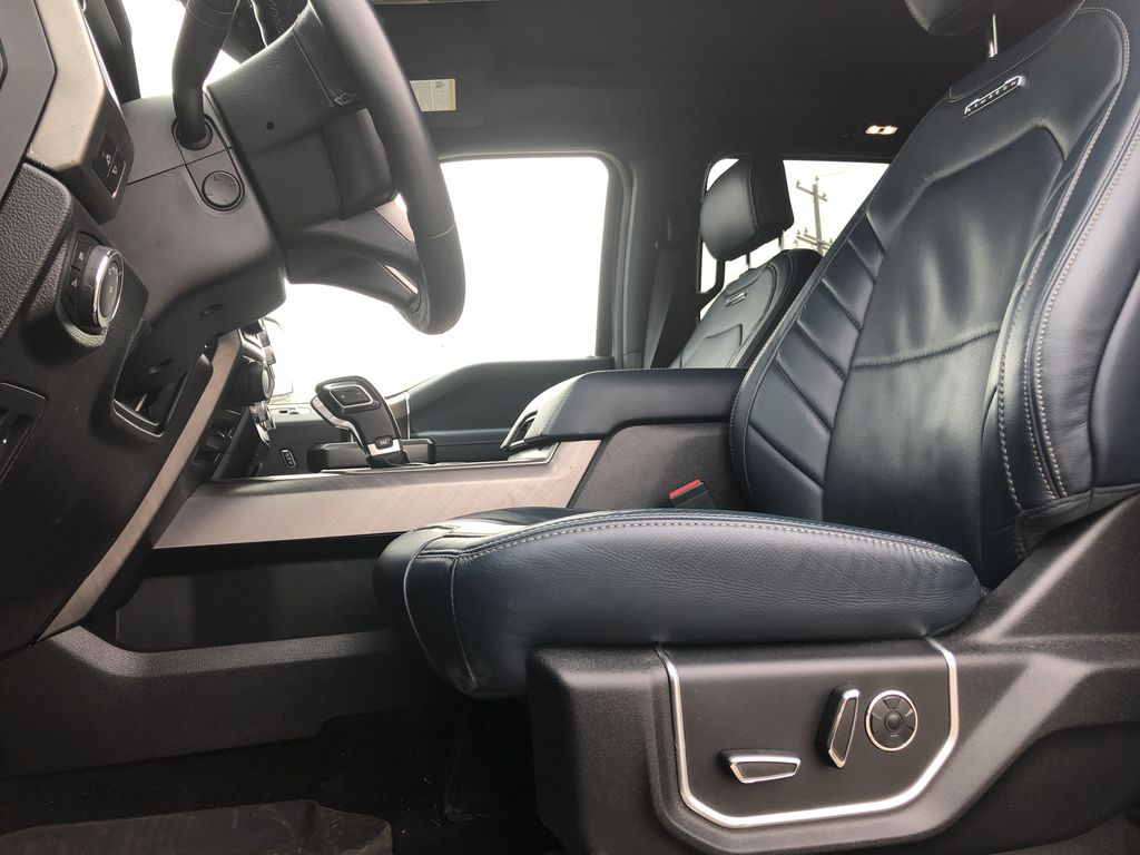 Blue[Blue Jeans Metallic] 2018 Ford F-150 Left Front Interior Photo in Edmonton AB