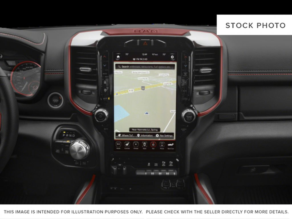 Red[Flame Red] 2019 Ram 1500 Radio Controls Closeup Photo in Fort Macleod AB