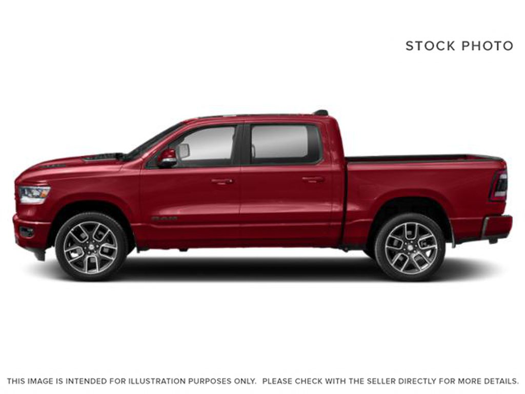 Red[Flame Red] 2019 Ram 1500 Left Side Photo in Fort Macleod AB