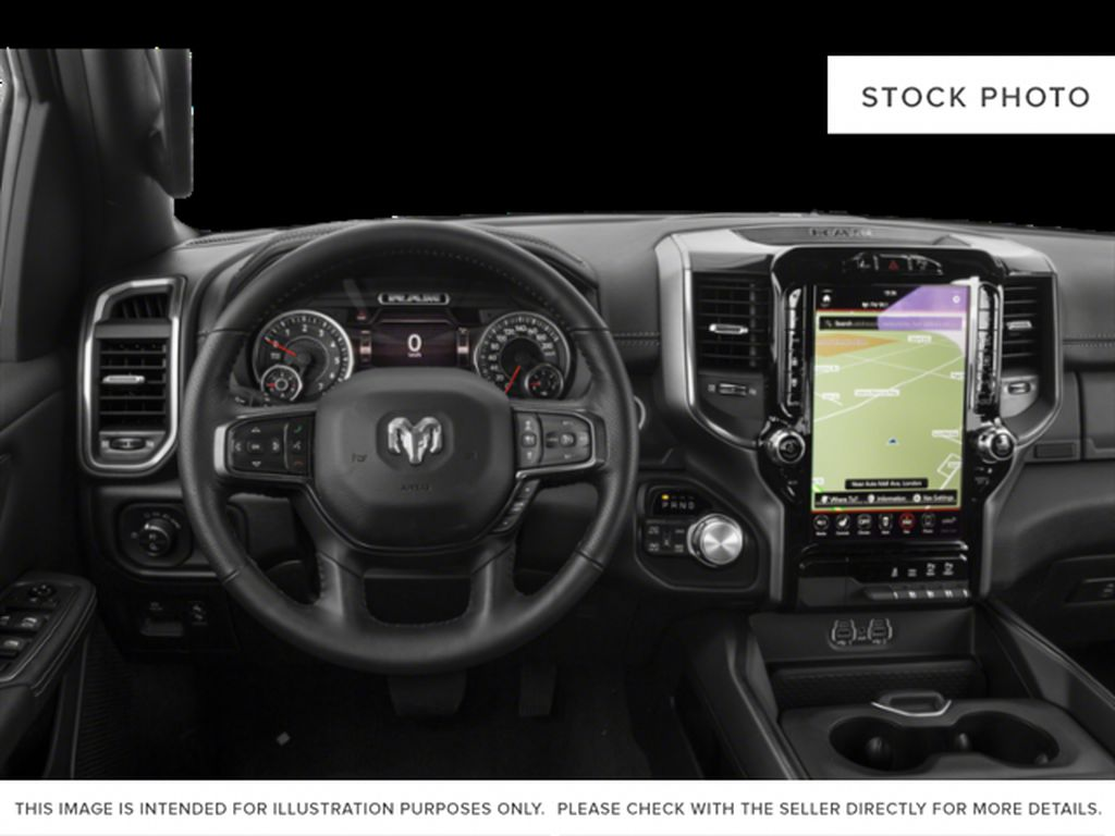 Red[Flame Red] 2019 Ram 1500 Steering Wheel and Dash Photo in Fort Macleod AB