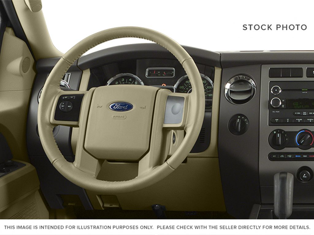 White[White Platinum Metallic Tri-Coat] 2014 Ford Expedition Max Steering Wheel and Dash Photo in Fort Macleod AB