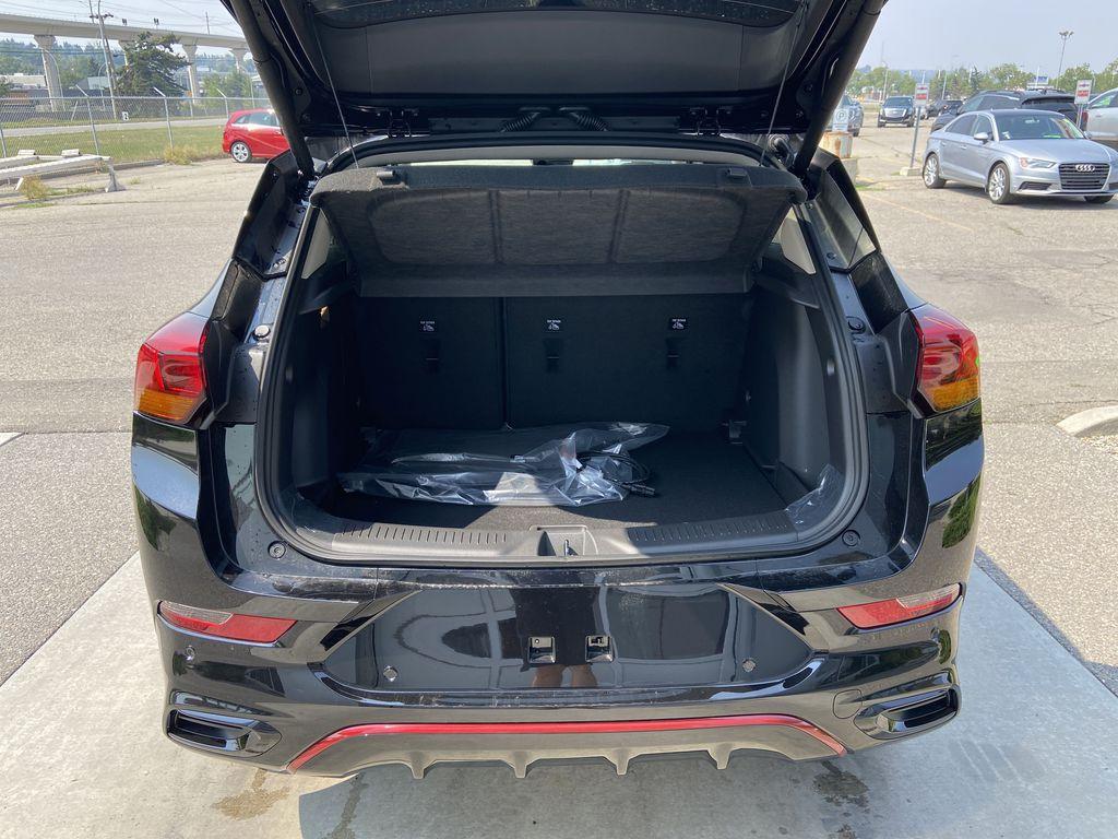 Black[Ebony Twilight Metallic] 2022 Buick Encore GX Essence Trunk / Cargo Area Photo in Calgary AB