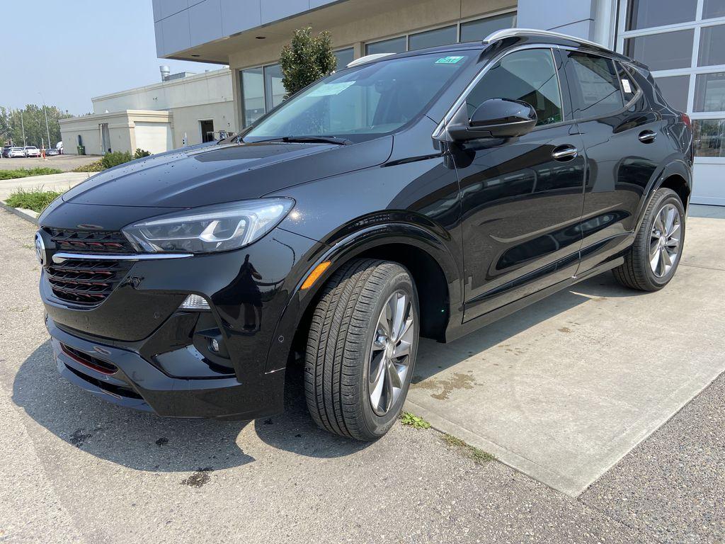 Black[Ebony Twilight Metallic] 2022 Buick Encore GX Essence Left Front Head Light / Bumper and Grill in Calgary AB