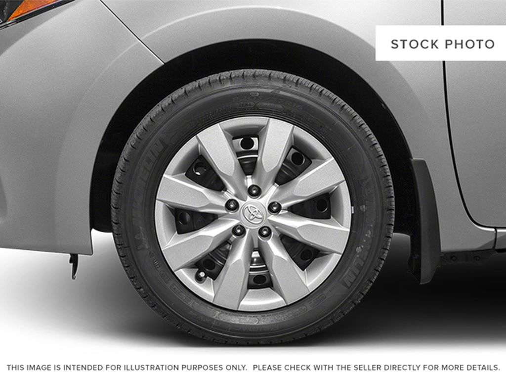 Red[Barcelona Red Metallic] 2014 Toyota Corolla Left Front Rim and Tire Photo in Kelowna BC