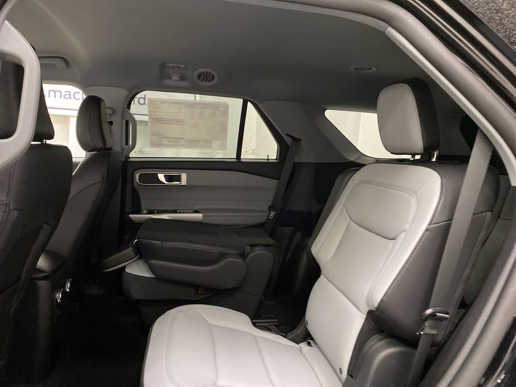 Black[Agate Black Metallic] 2021 Ford Explorer Left Side Rear Seat  Photo in Dartmouth NS