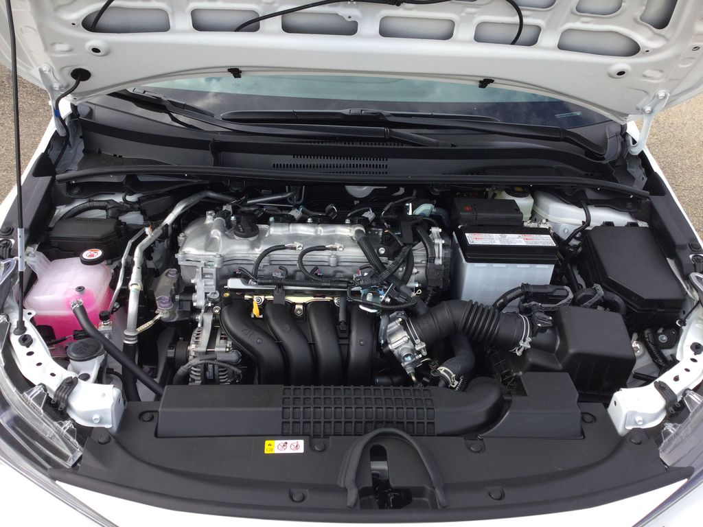 White[Blizzard Pearl] 2021 Toyota Corolla Engine Compartment Photo in Brockville ON
