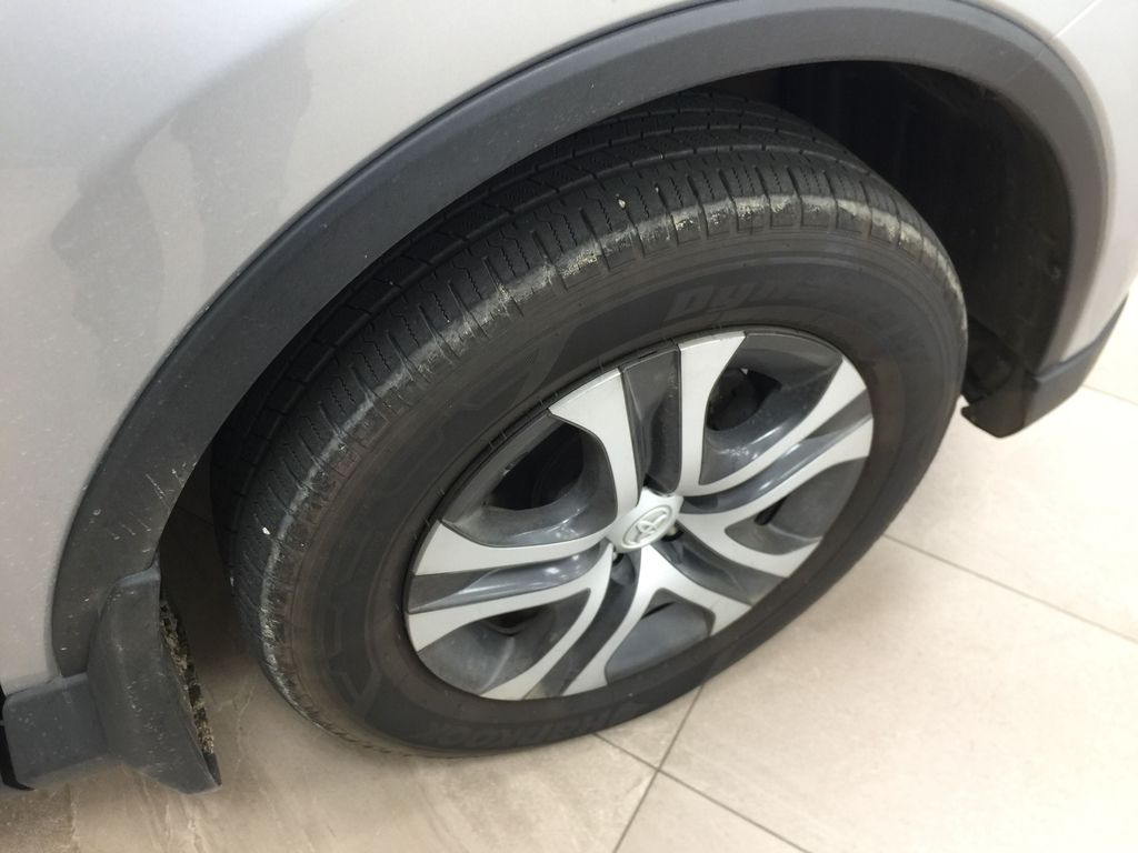 Silver[Silver Sky Metallic] 2016 Toyota RAV4 LE AWD Right Front Rim and Tire Photo in Sherwood Park AB