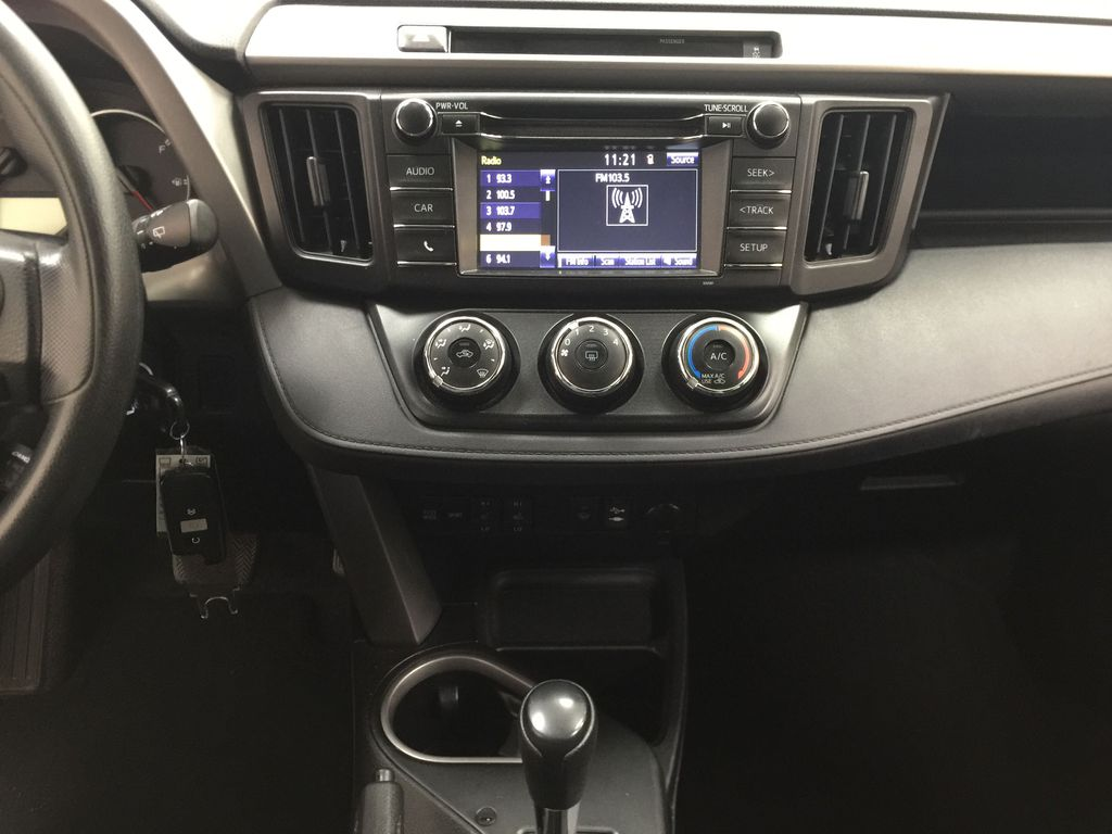Silver[Silver Sky Metallic] 2016 Toyota RAV4 LE AWD Central Dash Options Photo in Sherwood Park AB