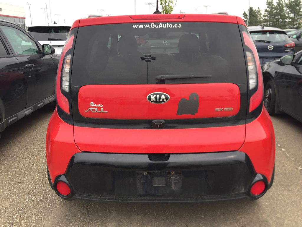 Red[Inferno Red] 2015 Kia Soul SX HATCHBACK Rear of Vehicle Photo in Sherwood Park AB