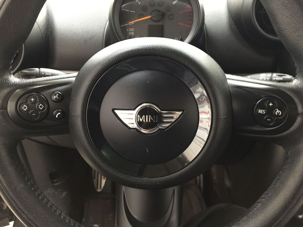 Silver[Crystal Silver Metallic] 2015 MINI Cooper Paceman AWD Steering Wheel and Dash Photo in Sherwood Park AB