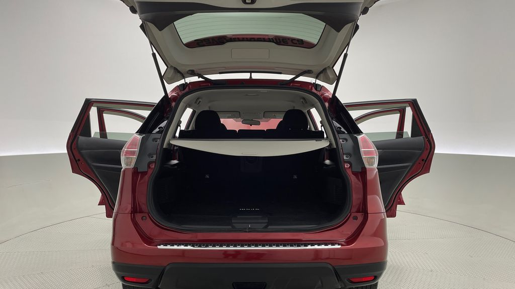 Red[Cayenne Red Metallic] 2016 Nissan Rogue SV AWD - Heated Seats, Backup Camera, Alloy Wheels Trunk / Cargo Area Photo in Winnipeg MB