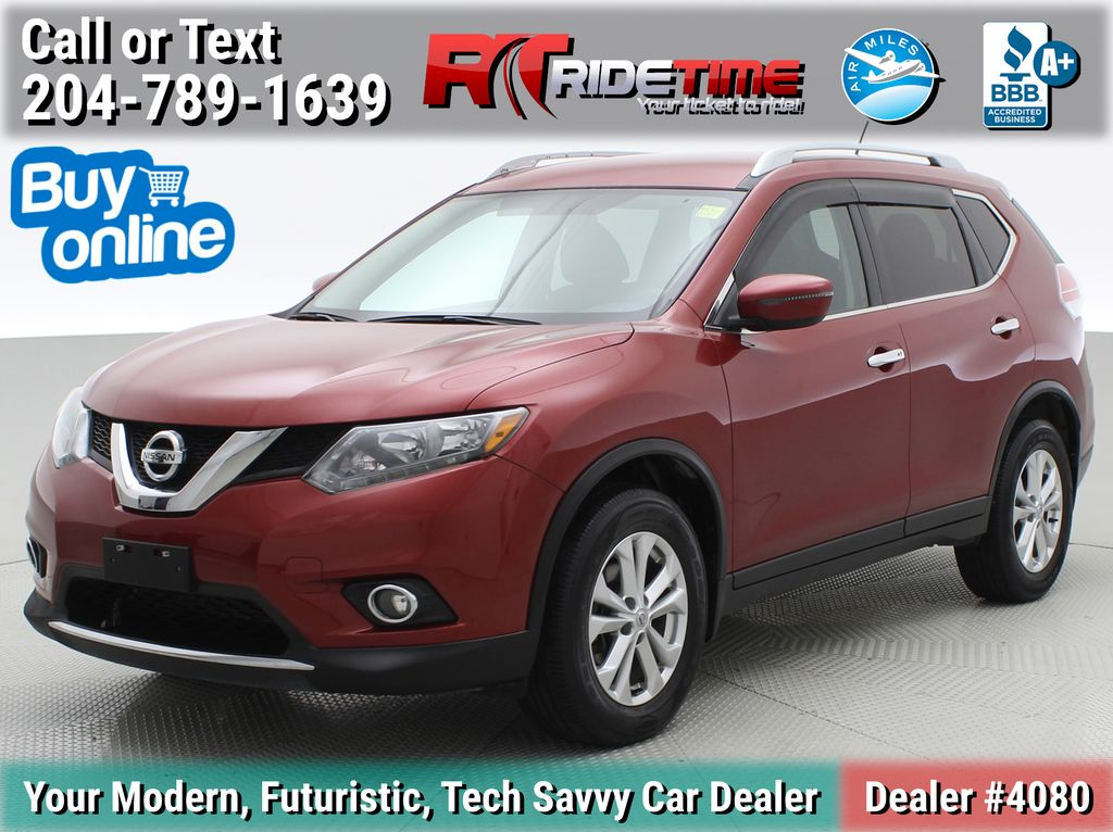 Red[Cayenne Red Metallic] 2016 Nissan Rogue SV AWD - Heated Seats, Backup Camera, Alloy Wheels