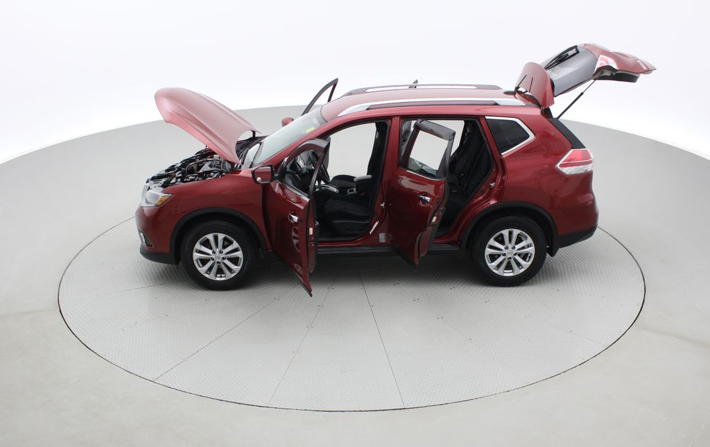 Red[Cayenne Red Metallic] 2016 Nissan Rogue SV AWD - Heated Seats, Backup Camera, Alloy Wheels Left Side Photo in Winnipeg MB