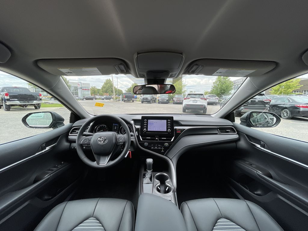 Black[Midnight Black Metallic] 2021 Toyota Camry FWD SE Standard Package G11AKT AM Right Side Front Seat  Photo in Brampton ON