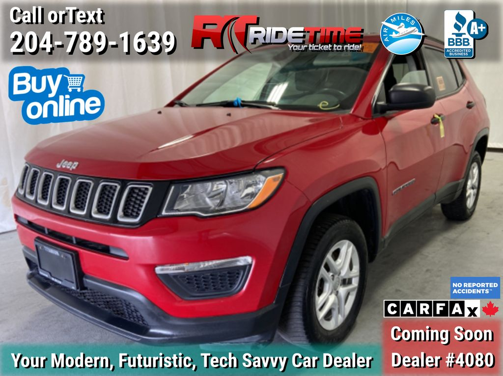 Red[Redline Pearl] 2019 Jeep Compass Sport 4WD - Heated Seats / Steering Wheel