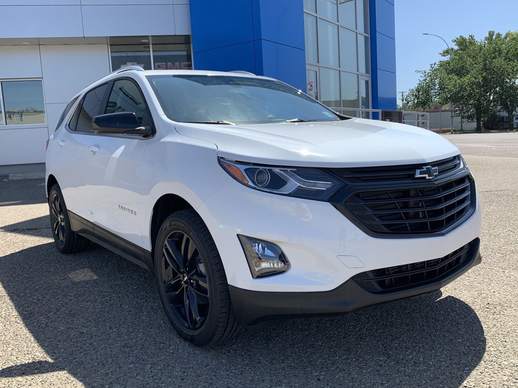 White 2021 Chevrolet Equinox Left Front Head Light / Bumper and Grill in Brooks AB