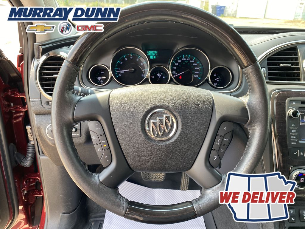 Red[Crimson Red Tintcoat] 2015 Buick Enclave Steering Wheel Photo: Full View in Nipawin SK