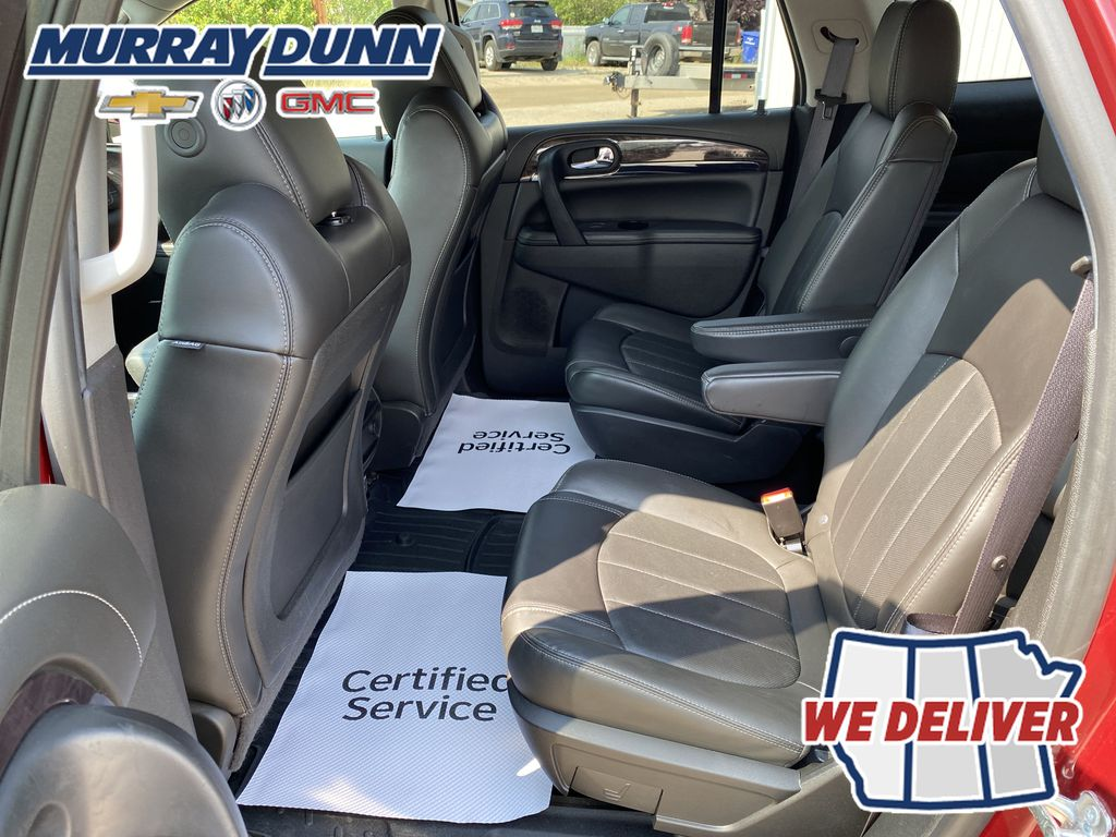 Red[Crimson Red Tintcoat] 2015 Buick Enclave Left Rear Seat in Nipawin SK