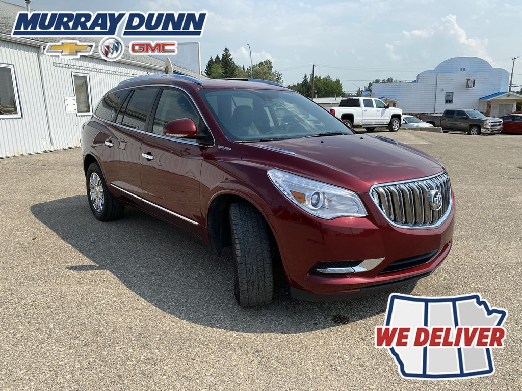 Red[Crimson Red Tintcoat] 2015 Buick Enclave Right Front Corner Photo in Nipawin SK