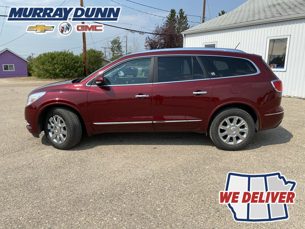 Red[Crimson Red Tintcoat] 2015 Buick Enclave Left Side Photo in Nipawin SK