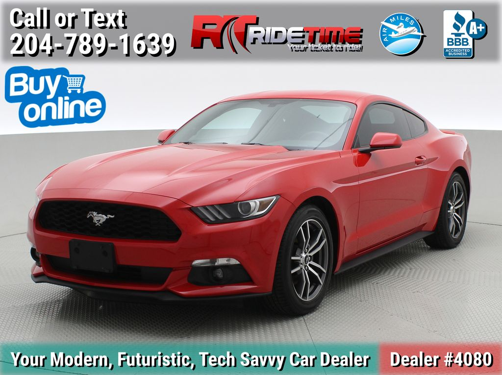 Red[Race Red] 2017 Ford Mustang EcoBoost - Manual Transmission, LOW KMs, Bluetooth