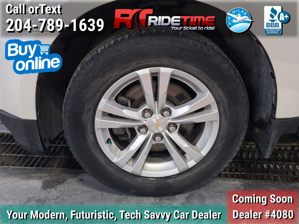 White[Summit White] 2013 Chevrolet Equinox 2LT - Leather, Sunroof, Navigation, Backup Cam Left Front Rim and Tire Photo in Winnipeg MB