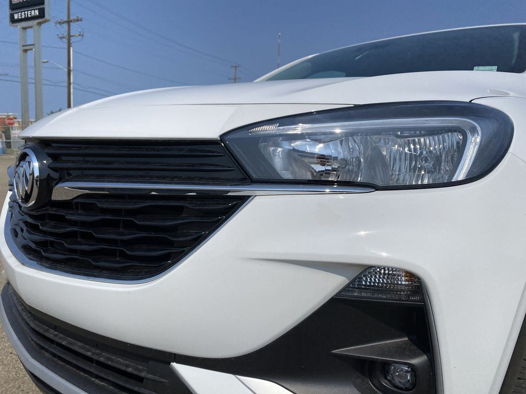 White[Summit White] 2022 Buick Encore GX Left Front Head Light / Bumper and Grill in Edmonton AB