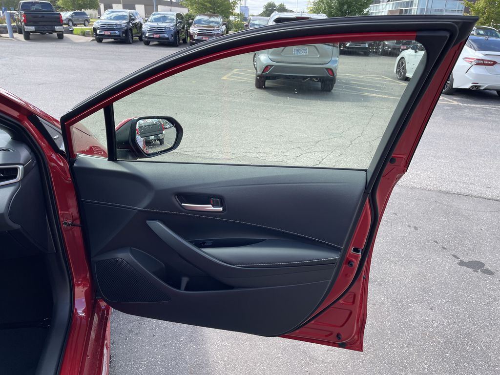 Red[Supersonic Red  w/Black Roof] 2021 Toyota Corolla Hatchback Standard Package K4RBEC AA Central Dash Options Photo in Brampton ON