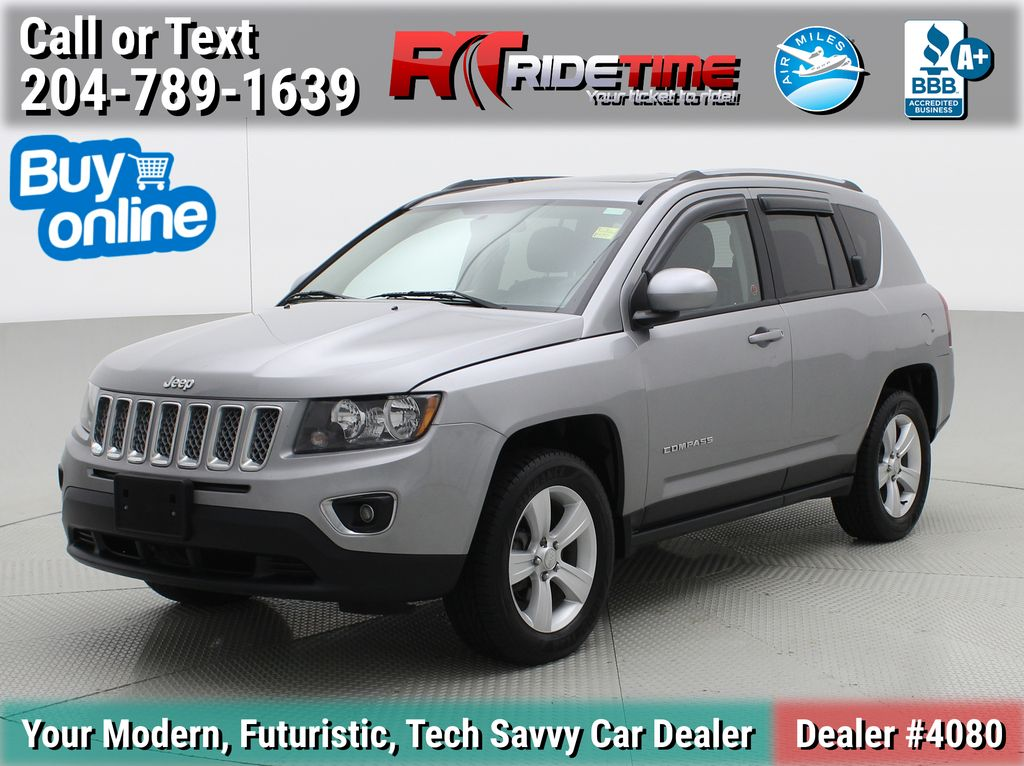 Silver[Billet Metallic] 2016 Jeep Compass High Altitude 4WD - Leather, Sunroof, Alloys