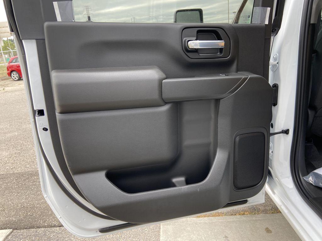 White[Summit White] 2021 Chevrolet Silverado 3500HD LT Left Rear Interior Door Panel Photo in Calgary AB