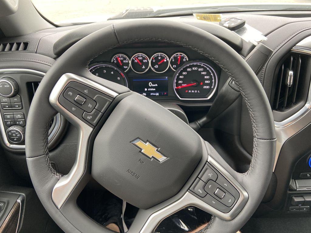 White[Summit White] 2021 Chevrolet Silverado 3500HD LT Steering Wheel and Dash Photo in Calgary AB