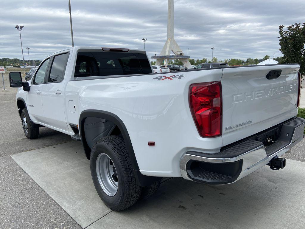 White[Summit White] 2021 Chevrolet Silverado 3500HD LT Left Rear Corner Photo in Calgary AB