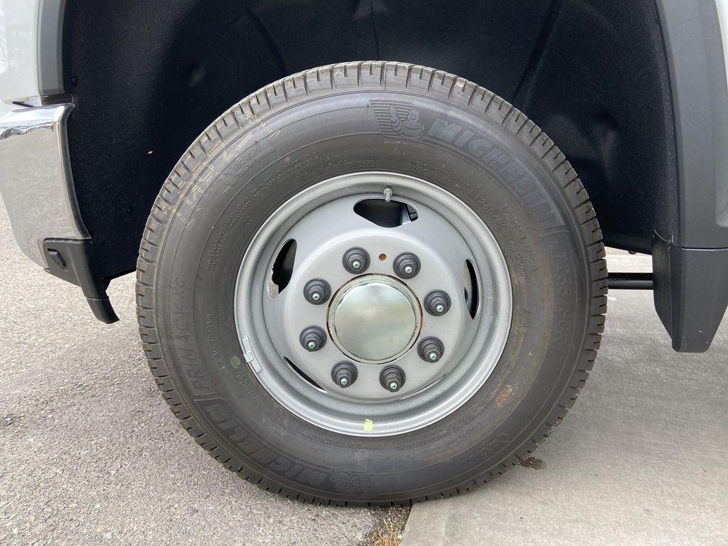 White[Summit White] 2021 Chevrolet Silverado 3500HD LT Left Front Rim and Tire Photo in Calgary AB