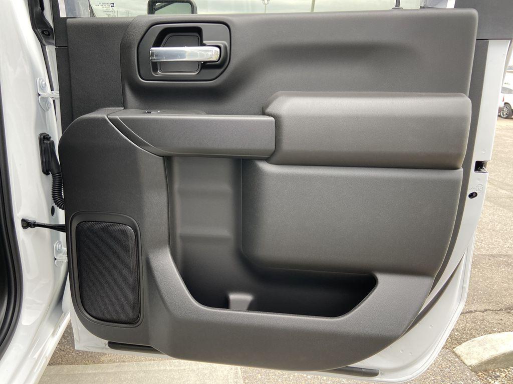 White[Summit White] 2021 Chevrolet Silverado 3500HD LT Right Rear Interior Door Panel Photo in Calgary AB