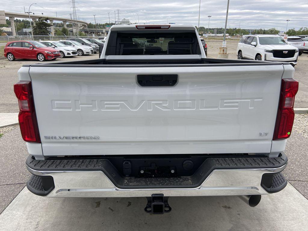 White[Summit White] 2021 Chevrolet Silverado 3500HD LT Rear of Vehicle Photo in Calgary AB