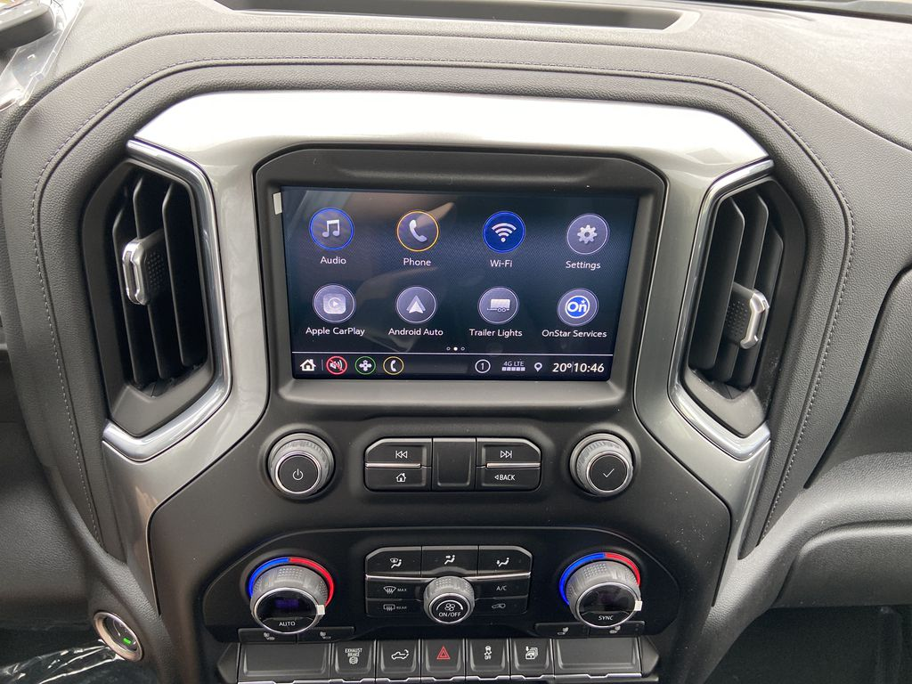 White[Summit White] 2021 Chevrolet Silverado 3500HD LT Radio Controls Closeup Photo in Calgary AB