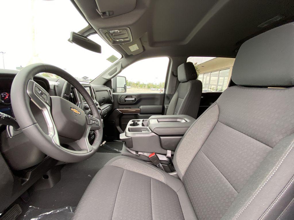White[Summit White] 2021 Chevrolet Silverado 3500HD LT Left Front Interior Photo in Calgary AB