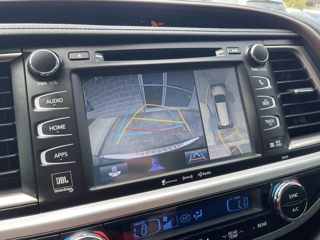 Red[Ooh La La Rouge Mica] 2019 Toyota Highlander Strng Wheel/Dash Photo: Frm Rear in Brampton ON