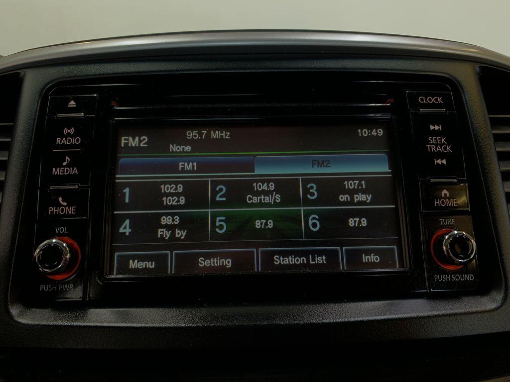 BLACK 2017 Mitsubishi Lancer SE LTD - 5MT, Bluetooth, Remote Start, Backup Cam, Heated Seats Radio Controls Closeup Photo in Edmonton AB