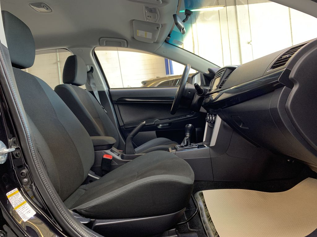 BLACK 2017 Mitsubishi Lancer SE LTD - 5MT, Bluetooth, Remote Start, Backup Cam, Heated Seats Right Side Front Seat  Photo in Edmonton AB