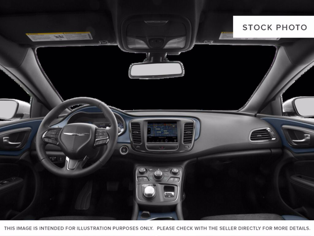 Black[Gloss Black] 2015 Chrysler 200 Left Rear Corner Photo in Brandon MB