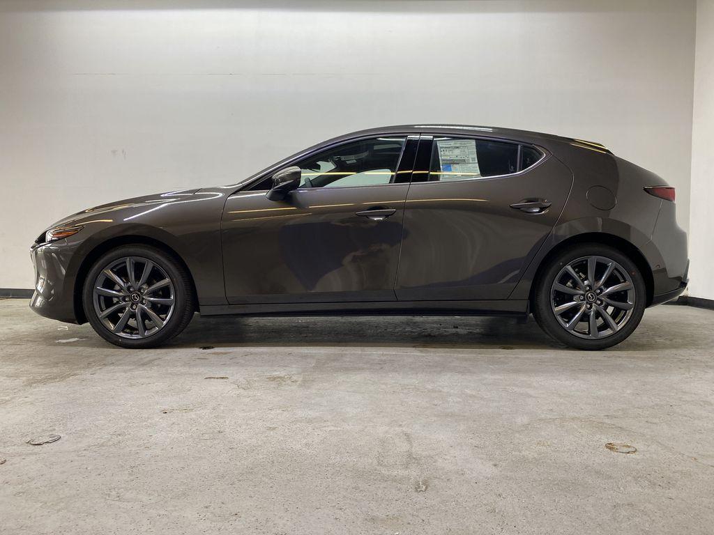 TITANIUM FLASH MICA(42S) 2021 Mazda Mazda3 Sport GT Premium FWD Left Side Photo in Edmonton AB