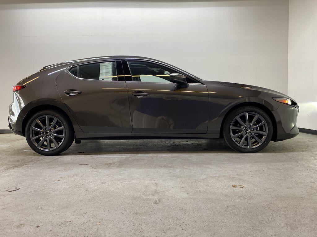 TITANIUM FLASH MICA(42S) 2021 Mazda Mazda3 Sport GT Premium FWD Right Side Photo in Edmonton AB
