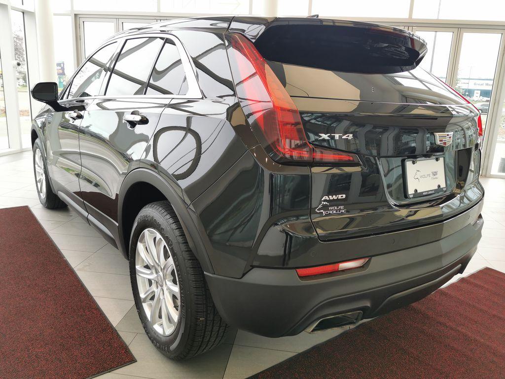 Black[Stellar Black Metallic] 2019 Cadillac XT4 Left Rear Corner Photo in Edmonton AB