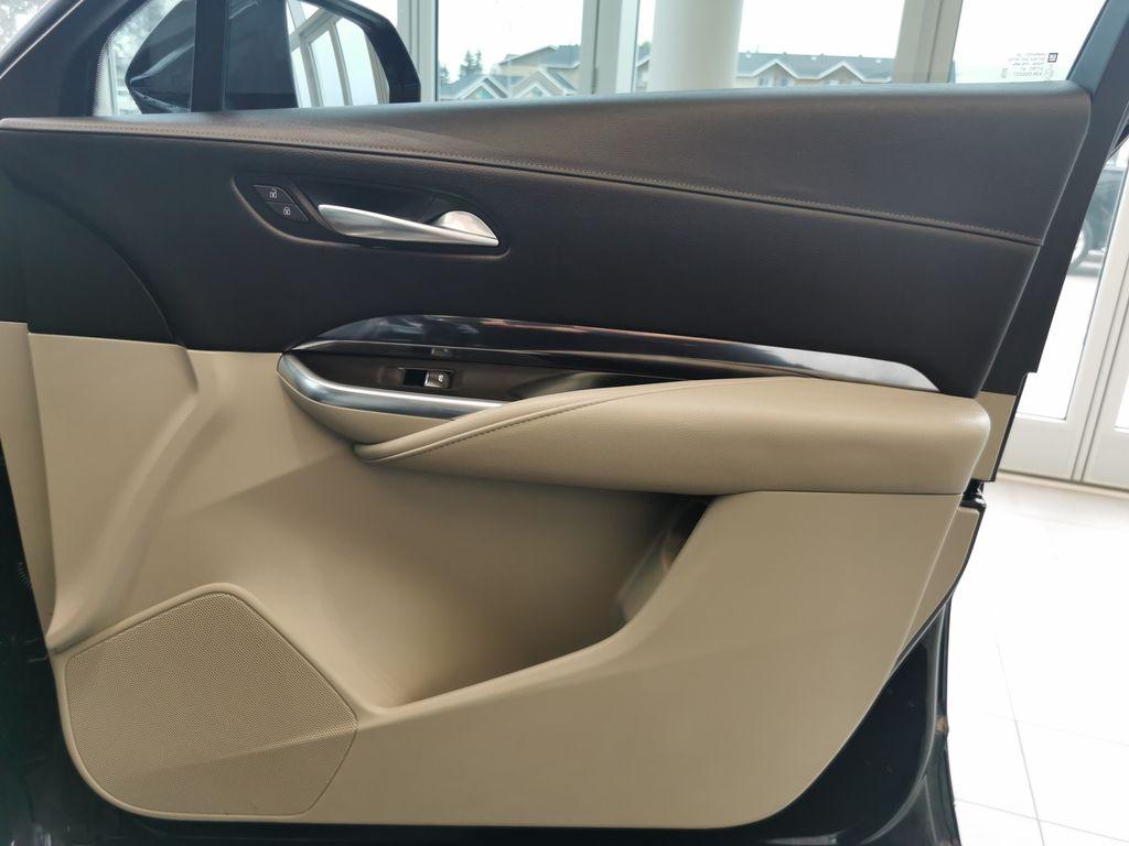 Black[Stellar Black Metallic] 2019 Cadillac XT4 Right Front Interior Door Panel Photo in Edmonton AB